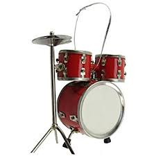 miniature drum set ornament 2 5 x 3 home