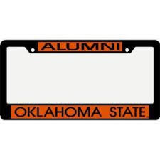 michigan state alumni license plate frame oklahoma state cowboys metal alumni inlaid acrylic