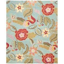 Safavieh Blossom Rug Safavieh Blossom Handmade Blue Wool Area Rug 8 X 10 8 X 10