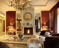 red white formal living room furniture ideas with big mirror