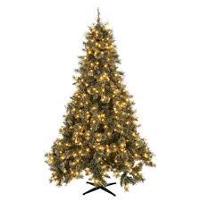martha stewart living 7 5 ft pre lit led sparkling pine quick set