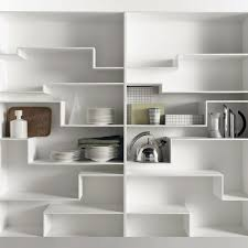 White Modular Bookcase by Modular Bookcase Contemporary Lacquered Mdf Melamine