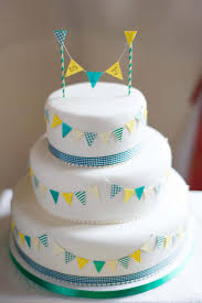 bunting wedding cake home made wedding cake pinterest