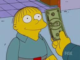 Money Meme - ralph wiggum eats money eating money know your meme