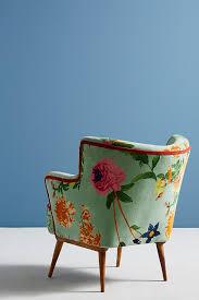 Aqua Accent Chair Floret Accent Chair Anthropologie
