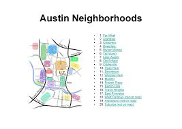 Austin Texas Map by Austin Tx Neighborhoods Map Austin Tx Usa U2022 Mappery