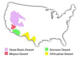 california map desert region the american deserts desertusa