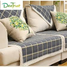 plaid coton pour canapé style européen plaid canapé couverture de toile de coton tissu