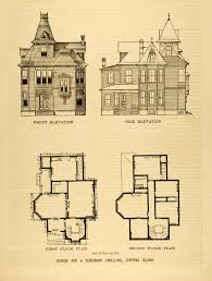 victorian architectural plans home design and furniture ideas 1878 print victorian suburban house architectural design floor plans d