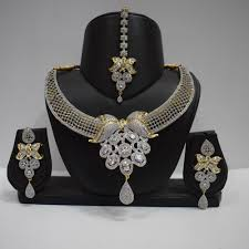 heavy diamond earrings shop bridal set diamond studded heavy necklace with earrings and