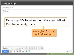 how to write an email to a friend with pictures wikihow
