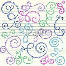 swirls and curls sketchy notebook doodles ornamental