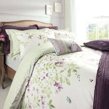 wisley floral green duvet cover and pillowcase set dunelm