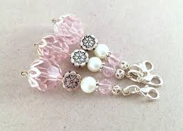 baby shower keychain favors flower girl charm pink wedding favor baby shower party