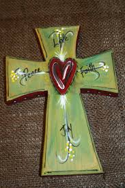 wooden craft crosses painted 8 wooden cross wall decor peace by dkplanners
