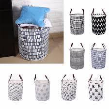 cute laundry hamper semicircle rabbit wave letter pattern handbag baby kids toy
