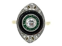 18ct u0026 platinum art deco criss cross diamond ring the antique