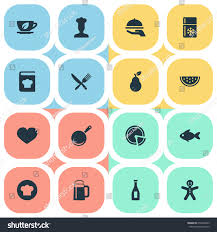 id cuisine simple vector illustration set simple cuisine icons stock photo photo