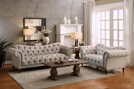 Homelegance Chesterfield Traditional Style  Piece Living Room Set - Three piece living room set
