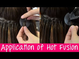 hot hair extensions keratin hot fusion hair extensions application information
