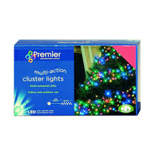 premier led multi cluster tree lights indoor or