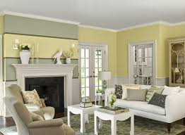 black and white living room with accent color blue striped rustic