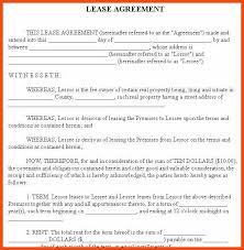 apartment lease agreement template program format