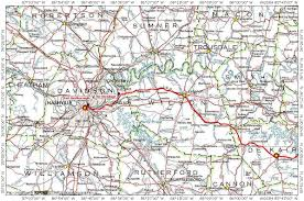 Bristol Tennessee Map by Nashville Road Migration Route