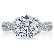 ribbon ring tacori ribbon 2565rd pave engagement ring