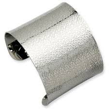 stainless steel cuff bracelet images Women 39 s wide textured stainless steel cuff bangle bracelet jewelry jpg
