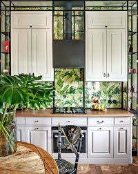 interior home wallpaper 20 beautiful wallpaper kitchen backsplashes with nature elements
