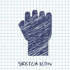 fist sketch icon royalty free cliparts vectors and stock