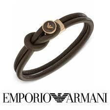 leather armani bracelet images Emporio armani leather bracelets by xo buyma jpg