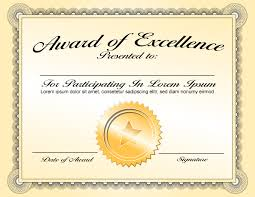 best classy award of excellence certificate template with gold