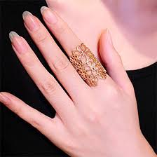 buy fashion rings images Hollow flower ring buy fashion rings online at jpg
