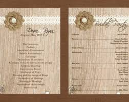 country wedding programs garden wedding program simple wedding program country wedding