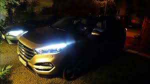 hyundai tucson night 2016 hyundai tucson 1 6 t gdi night driving led lights test
