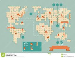 Vintage World Map by Vintage Worldmap Stock Image Image 34165231