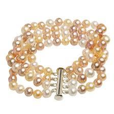 multi pearl bracelet images Freshwater cultured pearls bracelet natural nude pink color jpg