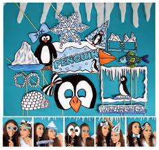 themed photo booth antarctica penguin photo booth props for your themed