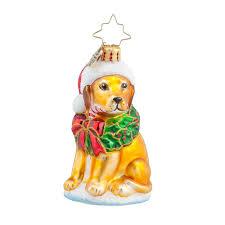 christopher radko labrador lucky golden gem ornament