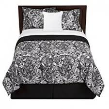 Black And White Paisley Duvet Cover Black And White Paisley Bedding Visualizeus