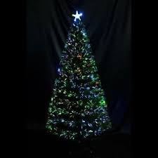 6ft 7ft artificial tree fiber optic pre lit tree led multi