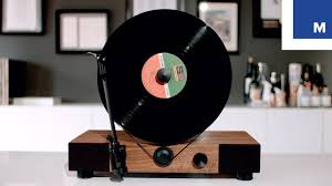 wall mounted record player gramovox floating vertical record player youtube