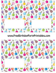 Blank Invitation Cards Templates Free Nail Polish Birthday Party Printables