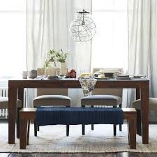 Tables With Bench Seating Carroll Farm Dining Table West Elm