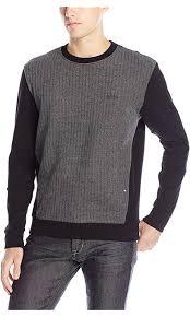 boss green men u0027s salbo 2 heavy knit contrast sweatshirt black x