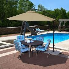 Overstock Patio Umbrella Mesmerizing Island Umbrella Santiago 10 Ft Octagonal Cantilever