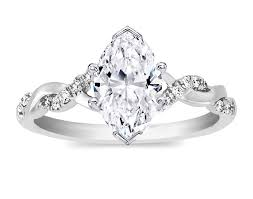 marquise diamond engagement ring marquise diamond twisted pave band engagement ring in 14k