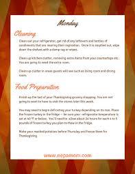 thanksgiving dinner preparation checklist for a stress free